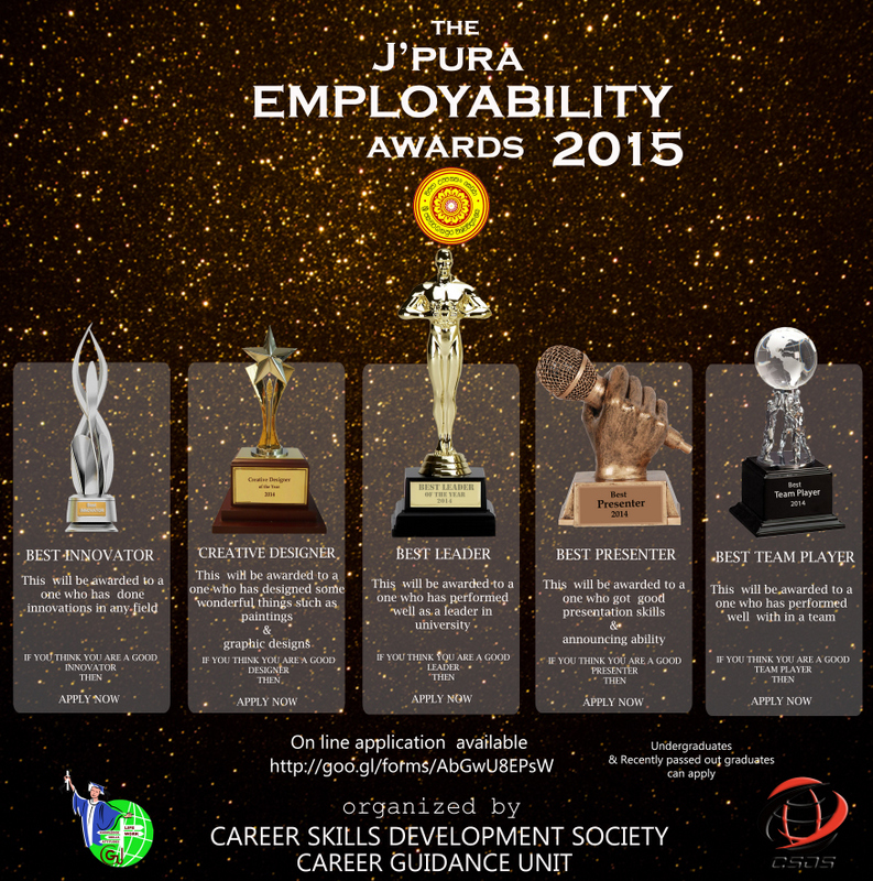 Japura Employability Awards Winners 2015