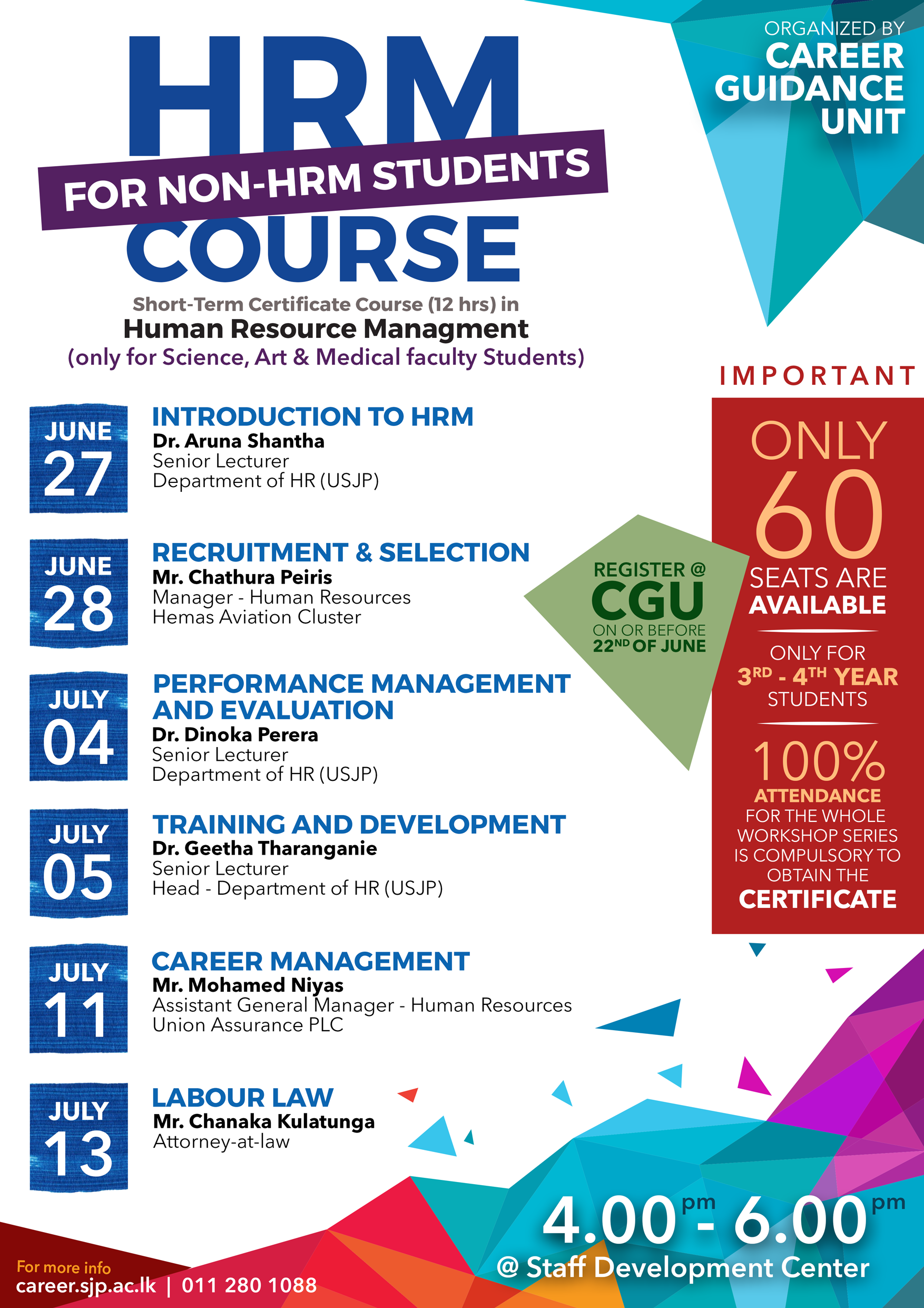 Hrm certificate course for non hrm students cgu career details 1betcityfo Images