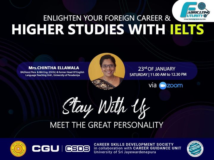 """""""Enlighten Your Foreign Career & Higher Studies with IELTS"""" – 23rd January 2021 from 11.00 am to 12.30 pm"""