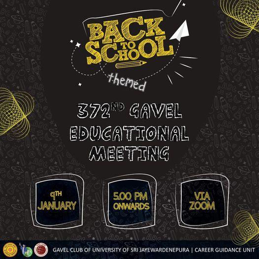 372nd Gavel Educational Meeting – 09th January 2021