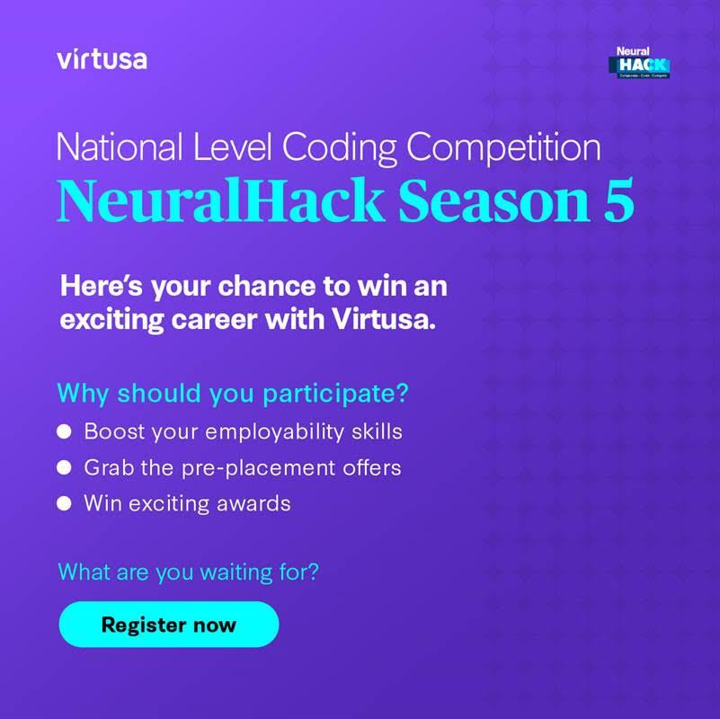 Virtusa – National Level Coding Competition Registration